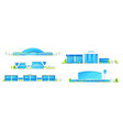 modern airport passenger terminal buildings vector image vector image