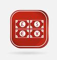 money bill Color square icon vector image