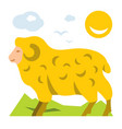 mountain sheep flat style colorful cartoon vector image vector image