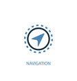 navigation concept 2 colored icon simple blue vector image