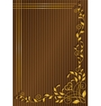 pattern on a brown background in a strip vector image