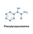 phenylpropanolamine sympathomimetic agent vector image vector image