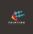 printing service typography imprint logo digital vector image