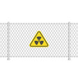 radiation sign on fence vector image vector image