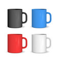 realistic color ceramic cup set vector image