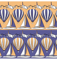 Seamless pattern with boat airplane air balloon vector image vector image
