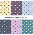 seamless pattern with stars vector image