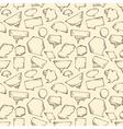 Seamless speech bubbles pattern vector image vector image