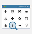 set of 12 editable religion icons includes vector image vector image