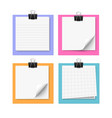 Set of four white sticky notes vector image vector image