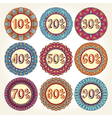 Set of nine sale icons vector image vector image