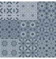 set of seamless tileable background patterns vector image