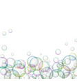 soap bubbles on white background vector image vector image
