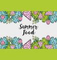 summer food fruits vector image