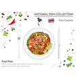 thai cuisine asian national dish collection pad vector image