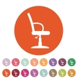 The barber chair icon Armchair symbol Flat vector image