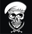 White Army Skulls vector image vector image