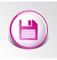 disk old icon floppy save record media sign vector image