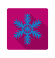 element for flat design snowflake vector image