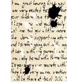 handwritten text vector image