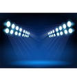 Blue spotlights vector image