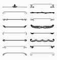 16 decorative dividers design elements vector image vector image