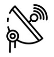 5g parabolic antenna icon outline style vector image vector image