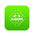 alebard icon green vector image vector image