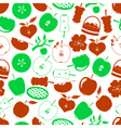 apple theme simple icons seamless pattern eps10 vector image vector image