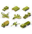armor weapon collection helicopter and cannon vector image vector image