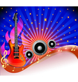 background with guitar vector image