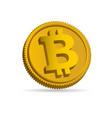 bitcoin 3d icon vector image