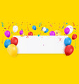 blank banner with balloons vector image vector image
