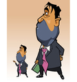 cartoon man in a suit with a folder in his hand vector image vector image