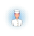 Chef icon in comics style vector image vector image