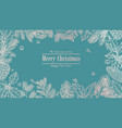 christmas card holidays background invitation vector image vector image