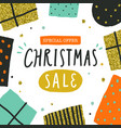 christmas sale poster flyer template vector image vector image