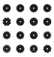 Circular saw blade icons vector image