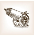 Circus human cannon sketch vector image vector image