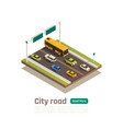 city isometric composition vector image