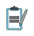 clipboard checklist with write pen work element vector image vector image