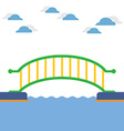 Colorful Bridge Over The River vector image vector image