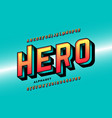 comics style super hero font alphabet letters and vector image vector image