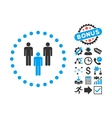 Community Flat Icon with Bonus vector image vector image