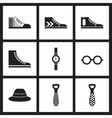 Concept flat icons in black and white Men