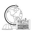 construction architectural cartoon vector image vector image