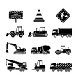 Construction Machines Black vector image