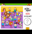 counting children characters educational game vector image vector image