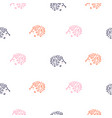 cute baby hedgehogs seamless pattern vector image vector image