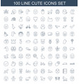cute icons vector image vector image